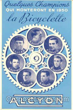adv001208 - Cyclist Advertising Postcard Post Card