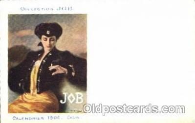 adv001308 - Job Cigarette Advertising Artist Casas Postcard Post Card