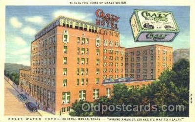 adv001327 - Crazy Warer Crystals, Crazy Water Hotel, Mineral Wells, Texas USAAdvertising Postcard Post Card