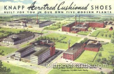 adv001334 - Knapp Brothers, Aerotred Cushioned Shoes, Brockton, Mass, USA, Lewiston, Maine USA, Advertising Postcard Post Card