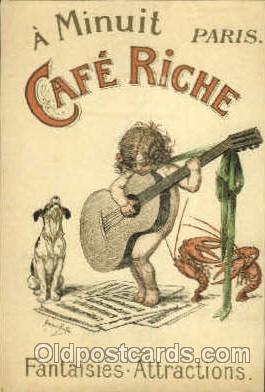 adv001472 - Café Riche Advertising Postcard Post Card