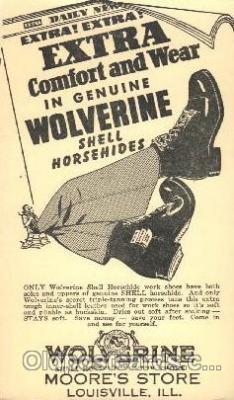 Wolverine, Moores Store, Louisville, Illinois, IL USA