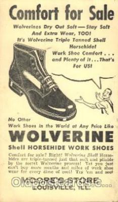 adv001514 - Wolverine, Moore's Store, Louisville, Illinois, IL USA Advertising Postcard Post Card