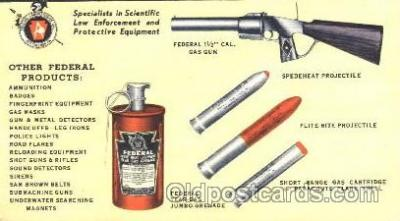 adv001540 - Federal Tear-Gas Jumbo Grenade Advertising Postcard Post Card