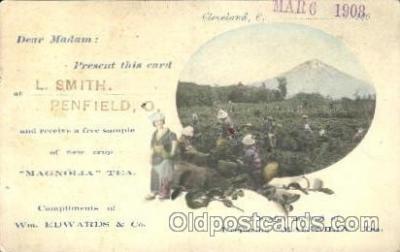 adv001568 - magnolia tea Advertising Postcard Post Card