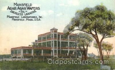 adv001578 - Agar Agar Wafers Mansfield Laboratories, Inc, Mansfield, Mass. USA Advertising Postcard Post Card