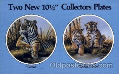 adv001815 - American Heritage Art Products Ltd. Beautiful Big Cats Collector Plates Advertising Post Card Post Card