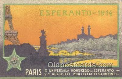 adv001860 - Esperanto 1914 Advertising Postcard Post Card