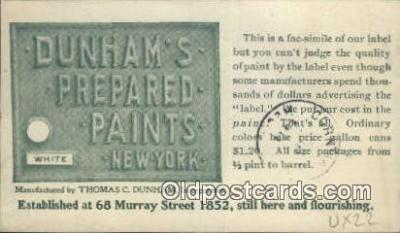 Dunhams Prepared Paints, New York, NY USA