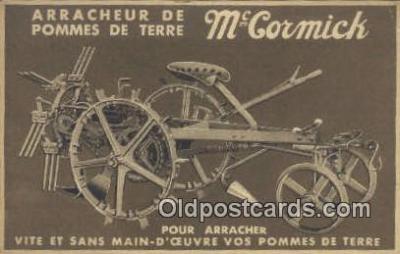 adv001884 - Arracheur De Pomes De Terre, McCormick Advertising Postcard Post Card