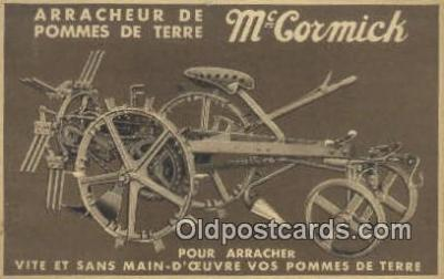 adv001901 - Arracheur De Pomes De Terre, McCormick Advertising Postcard Post Card