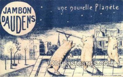 adv001904 - Jambon Paudens Advertising Postcard Post Card