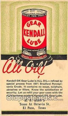 Kendall OK Gear Lube is All Oil Postcard Post Card