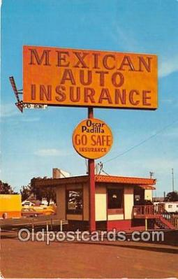 Mexican Auto Insurance Postcard Post Card
