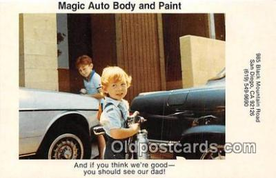 Magic Auto Body & Paint Postcard Post Card