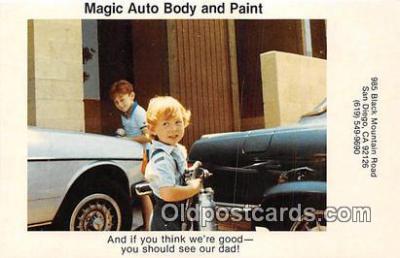 adv002043 - Magic Auto Body & Paint Advertising Postcard Post Card