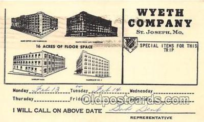 Wyeth Company Postcard Post Card