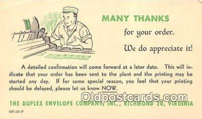Duplex Envelope Company Inc Postcard Post Card