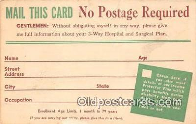 Gentlemen, Enrollment Postcard Post Card