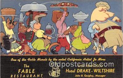 adv002069 - Fable Restaurant Advertising Postcard Post Card
