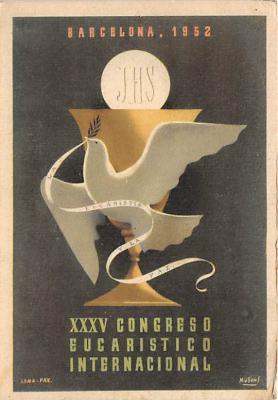 Barcelona 1952 XXV Congreso Eucaristico Internacional
