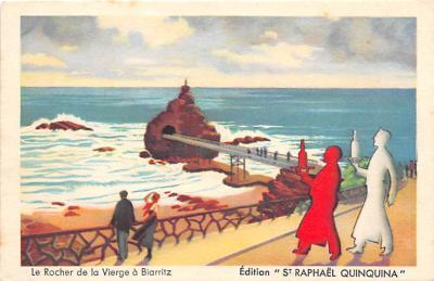 Le Rocher de la Vierge a Biarritz