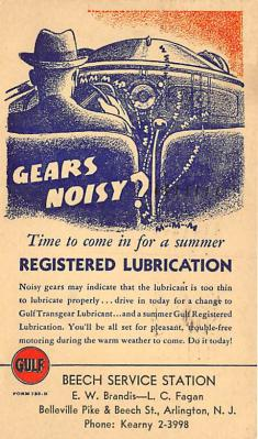 Registered Lubrication Beech Service Station