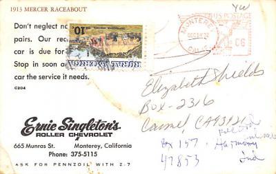 adv006199 - Advertising Post Card  back