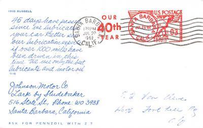 adv006209 - Advertising Post Card  back