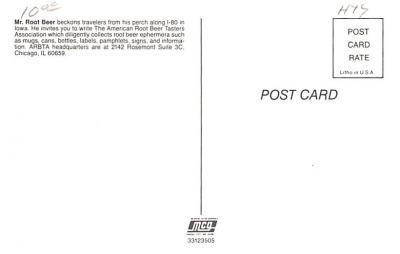 adv008059 - Advertising Post Card  back