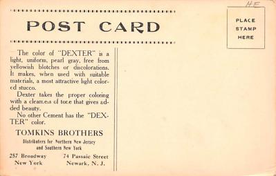 adv010001 - Advertising Post Card  back