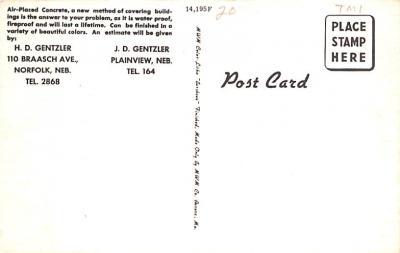 adv010009 - Advertising Post Card  back