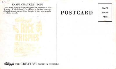 adv011013 - Advertising Post Card  back