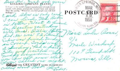adv011087 - Advertising Post Card  back