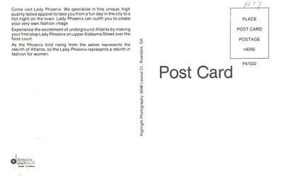 adv012365 - Advertising Post Card  back