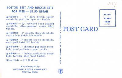 adv012549 - Advertising Post Card  back