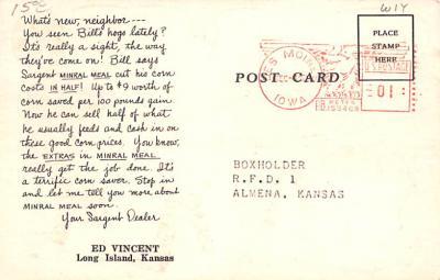 adv016007 - Advertising Post Card  back