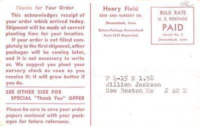 adv016173 - Advertising Post Card  back