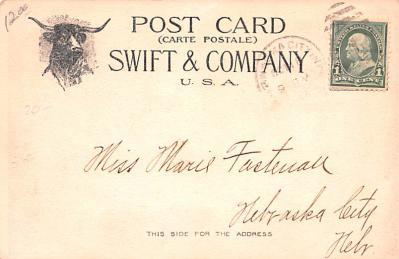 adv017143 - Advertising Post Card  back