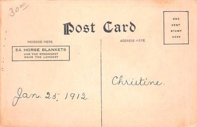 adv019001 - Horse Blanket Advertising Old Vintage Antique Post Card  back