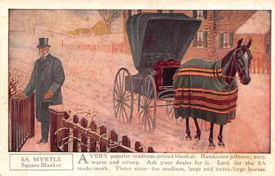 adv019045 - Horse Blanket Advertising Old Vintage Antique Post Card