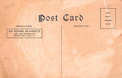 adv019045 - Horse Blanket Advertising Old Vintage Antique Post Card  back