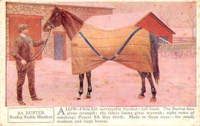 adv019049 - Horse Blanket Advertising Old Vintage Antique Post Card