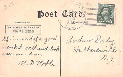adv019049 - Horse Blanket Advertising Old Vintage Antique Post Card  back