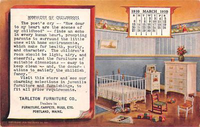 adv020005 - Furniture Advertising Old Vintage Antique Post Card