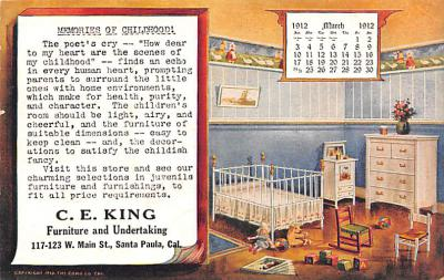 adv020007 - Furniture Advertising Old Vintage Antique Post Card