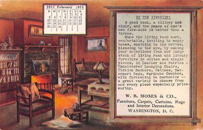 adv020009 - Furniture Advertising Old Vintage Antique Post Card