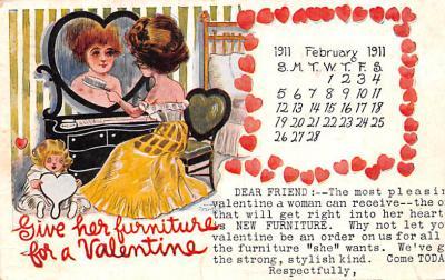 adv020013 - Furniture Advertising Old Vintage Antique Post Card
