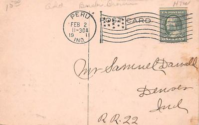 adv020013 - Furniture Advertising Old Vintage Antique Post Card  back