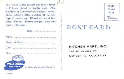 adv020035 - Furniture Advertising Old Vintage Antique Post Card  back